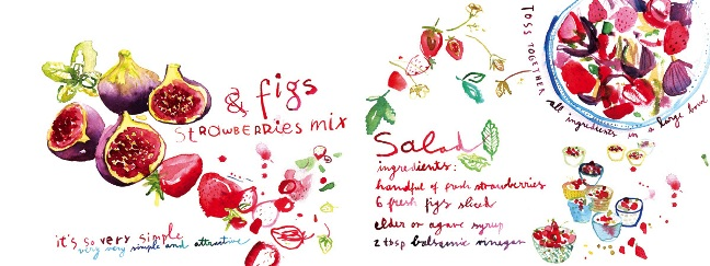 Figs and Strawberries Mix by Meta Wraber